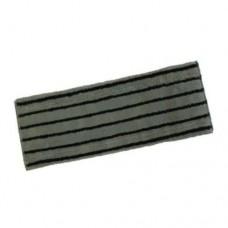 Моп плоский из микрофибры 50х17 см абразивной вставкой, с ушками