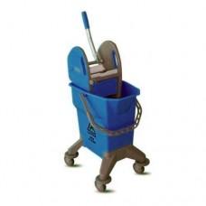 Ведро на колесах Ergonomic с отжимом 25 л (синее)