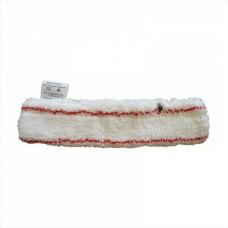 Шубка для мытья окон, 35 см, белая абразив, микрофибра, липучка
