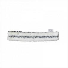 Шубка для мытья окон, 25 и 45 см, белая с черной полосой, микрофибра, жесткий абразив