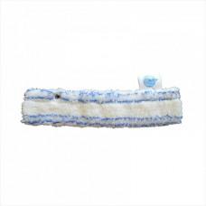Шубка для мытья окон, 25 и 45 см, белая с синей полосой, микрофибра, мягкий абразив