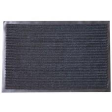Коврик грязезащитный двухполосный, черный, 40х60 см